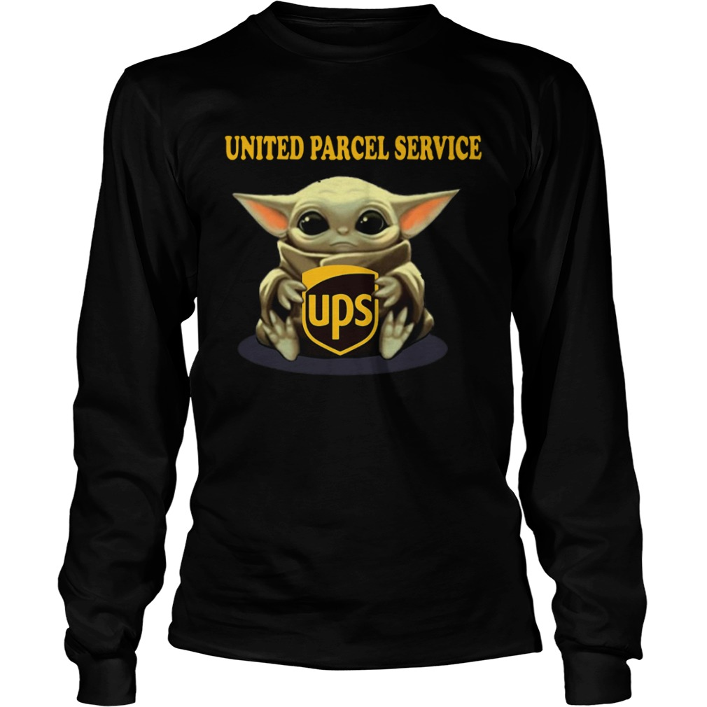 Baby Yoda Hugging United Parcel Service  LongSleeve