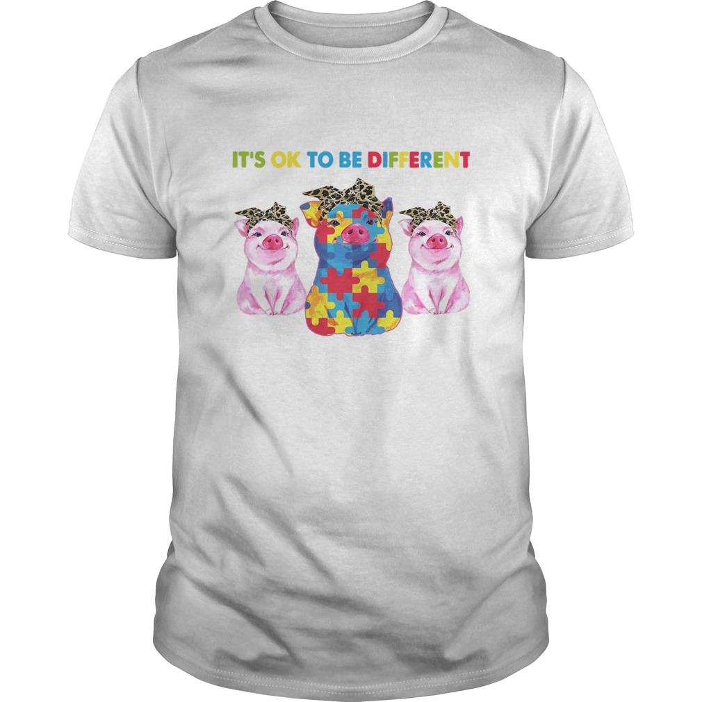 Pigs Autism Its Ok To Be Different  Unisex