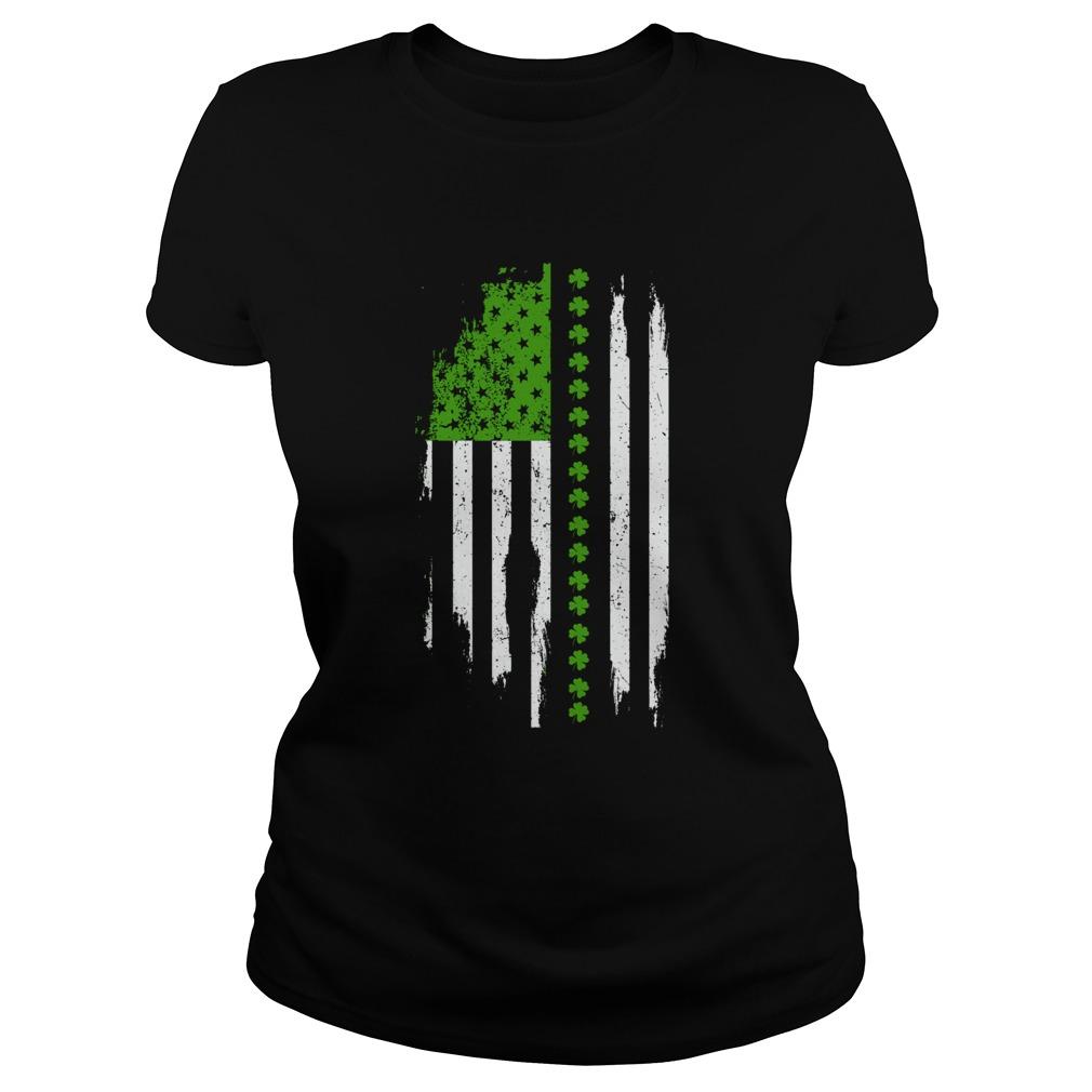 St Patricks Day Irish American Flag  Classic Ladies