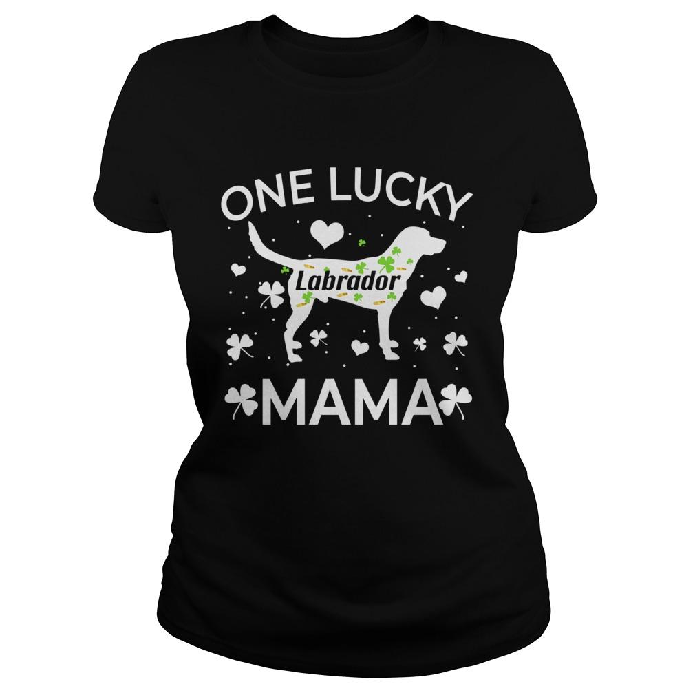 St Patricks Day labrador Lucky Mama Mom Dog  Classic Ladies