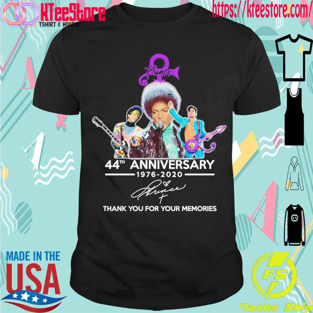 Prince 44th anniversary 1976 2020 thank you for your memories signature shirt