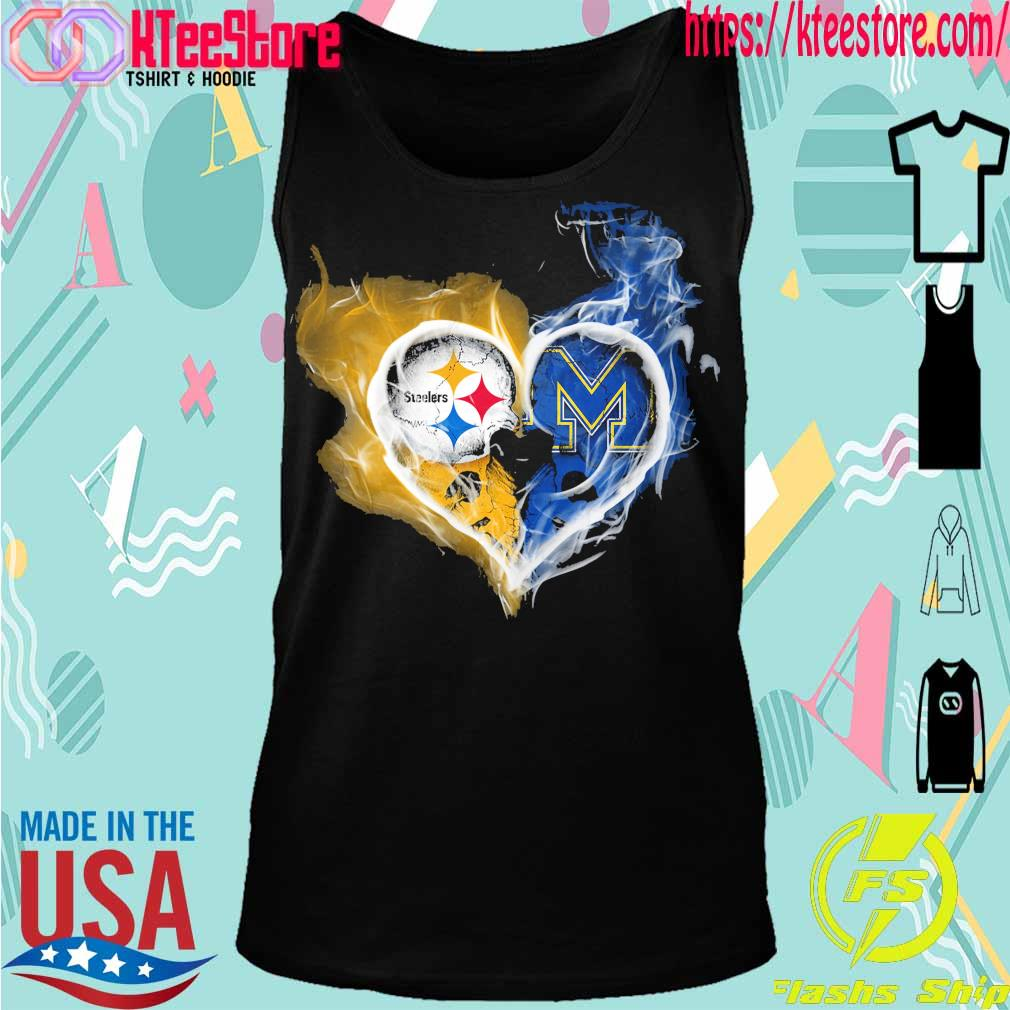Steelers and Michigan Wolverines heart fire s Tanktop