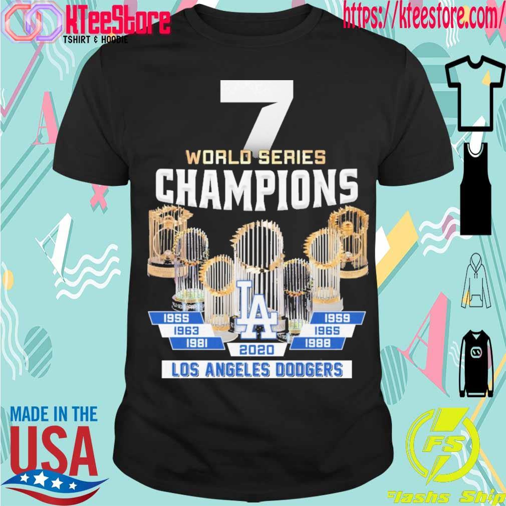 7 World Series Champions Los Angeles Dodgers 2020 shirt