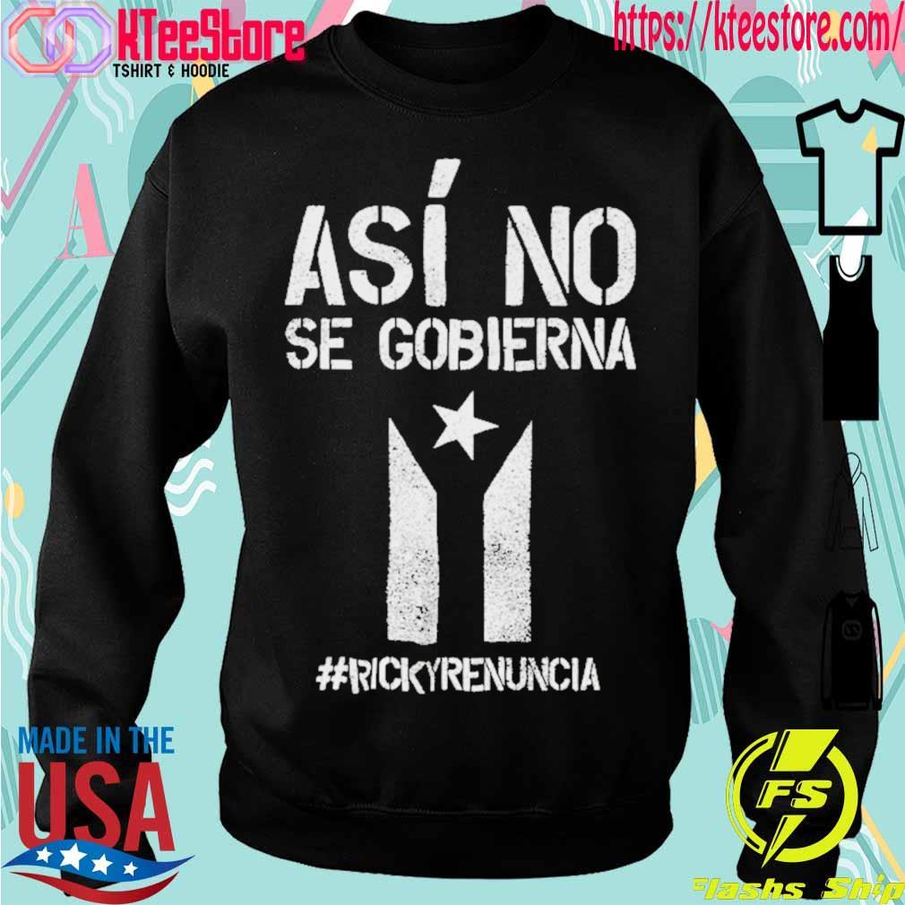 #rickyrenunciaricky Renuncia Bandera Negra Puerto Rico Flag Shirt Sweatshirt