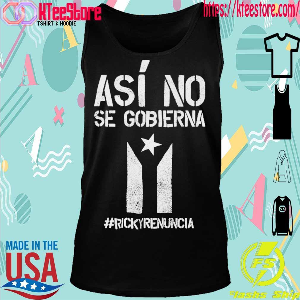 #rickyrenunciaricky Renuncia Bandera Negra Puerto Rico Flag Shirt Tanktop