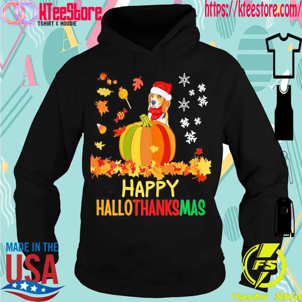Santa Beagle Pumpkin Happy Hallothanksmas s Hoodie