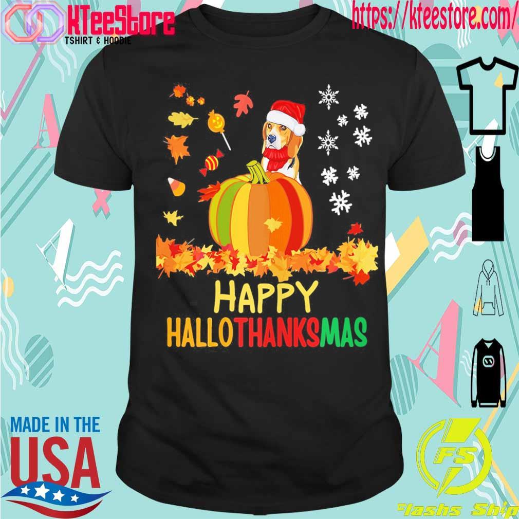 Santa Beagle Pumpkin Happy Hallothanksmas shirt