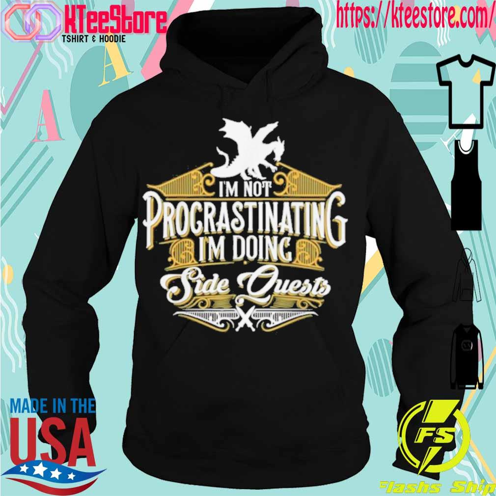 Official Not Procrastinating Side Quests Rpg Gamer Dragons Shirt Hoodie