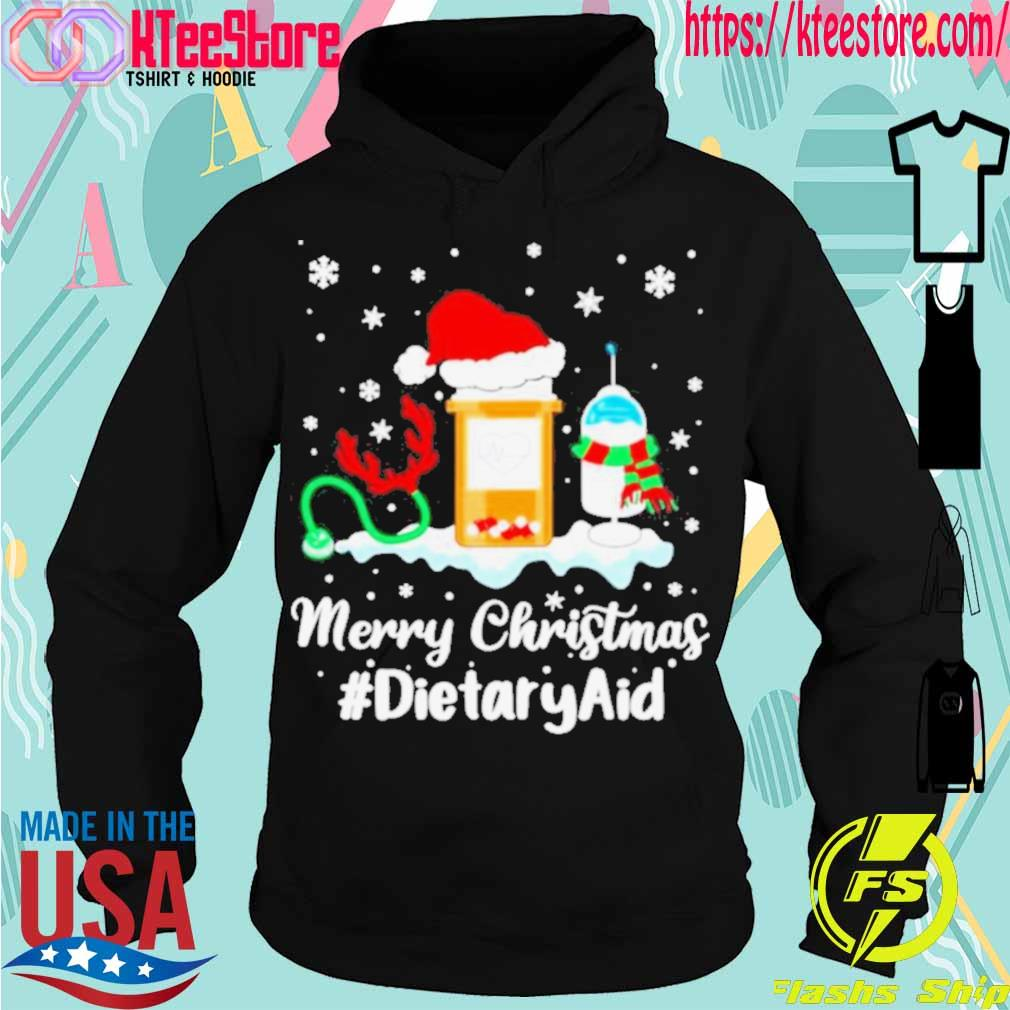 Official Nurse Santa Vaccine Merry Christmas Dietary Aid Shirt Hoodie