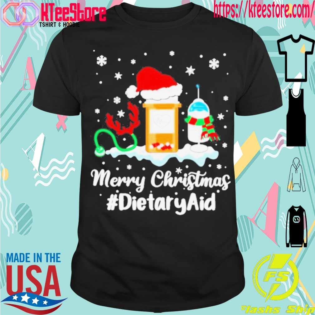 Official Nurse Santa Vaccine Merry Christmas Dietary Aid Shirt
