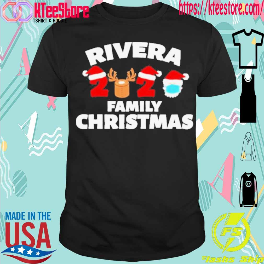 Official Rivera Family Christmas 2020 Santa Clause Wear Mask Shirt