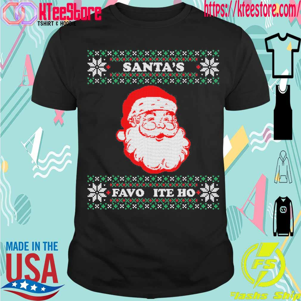 Official Santa's Favorite Ho Inappropriate Ugly Christmas Shirt