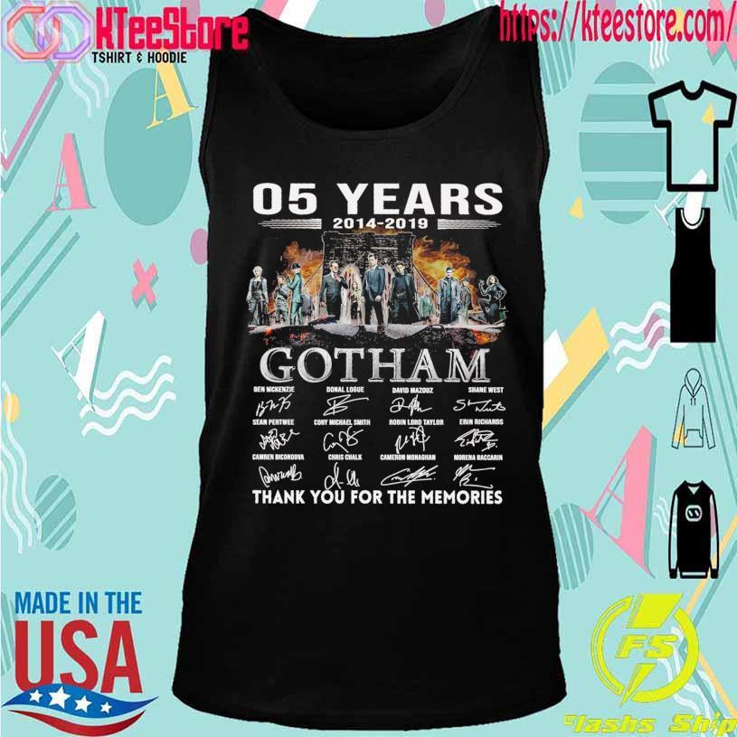 05 Years 2014 2019 Gotham Ben Mckenzie Donal Logue signatures s Tanktop
